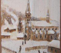 Konsuela Madejska-Turska: Widok na nowy kościół, wg fotografii z ok. 1898 r.