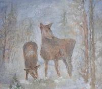 Zofia Biernacik: Sarenki w zimie